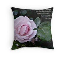 Rose and Lincoln Throw Pillow