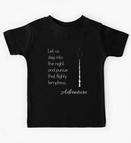 That flighty temptress, adventure (white) Kids Tee