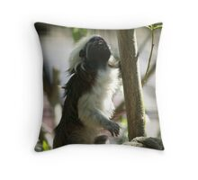 Cottontop Tamarin (Saguinus oedipus) Throw Pillow