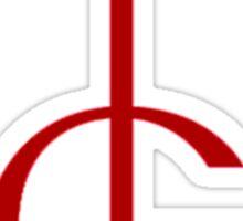 Red Ghost symbol Sticker