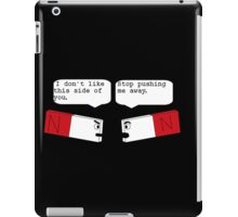 funny angry magnets iPad Case/Skin