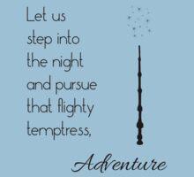 That flighty temptress, adventure (black) One Piece - Short Sleeve