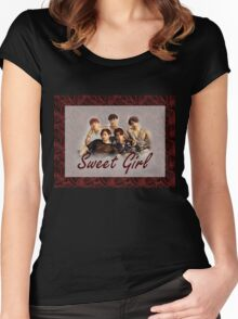 B1A4 Sweet Girl Women's Fitted Scoop T-Shirt