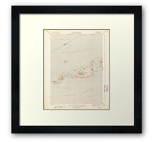 Massachusetts  USGS Historical Topo Map MA Cuttyhunk 351604 1944 31680 Framed Print