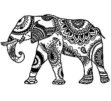 Patterned Elephant Photographic Print