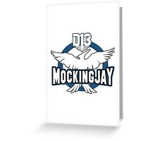 D13 Mockingjay Outlined Greeting Card