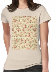 Vintage Floral Womens Fitted T-Shirt