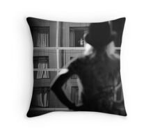 Girl in the window. Throw Pillow