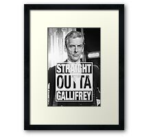 Straight Outta Gallifrey- CAPALDI Framed Print