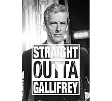 Straight Outta Gallifrey- CAPALDI Photographic Print