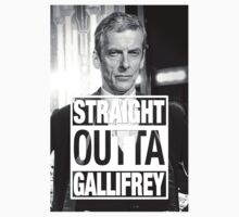 Straight Outta Gallifrey- CAPALDI Kids Tee