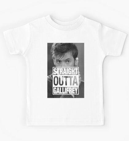 Straight Outta Gallifrey- TENNANT Kids Tee