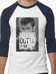 Straight Outta Gallifrey- TENNANT Men's Baseball ¾ T-Shirt