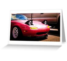 Slammed Miata Greeting Card