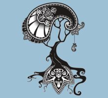 Paisley Tree Graphic Tees and Stickers by BeataViscera