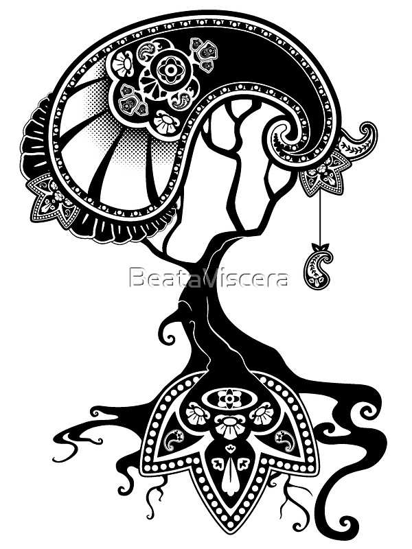 u0026quot paisley tree graphic tees and stickers u0026quot  stickers by beataviscera