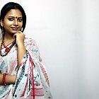 Bengali Beauty in sari  by JYOTIRMOY Portfolio Photographer