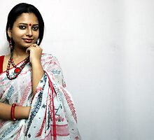 Bengali Beauty in sari  by JYOTIRMOY Portfolio Photographer