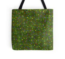 Summer meadow, abstract art, squares Tote Bag