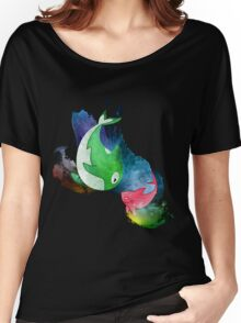 MakoRin Neon Watercolor Women's Relaxed Fit T-Shirt