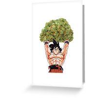 goku weed Greeting Card
