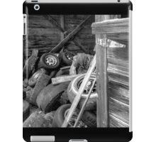 Tires thrown in a barn  iPad Case/Skin