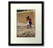 girls in the streets of Hato de  Framed Print
