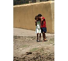 girls in the streets of Hato de  Photographic Print