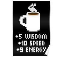 8-Bit Cofee Gear Poster