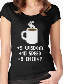8-Bit Cofee Gear Women's Fitted Scoop T-Shirt