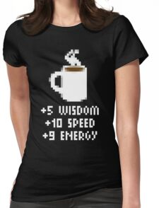 8-Bit Cofee Gear Womens Fitted T-Shirt