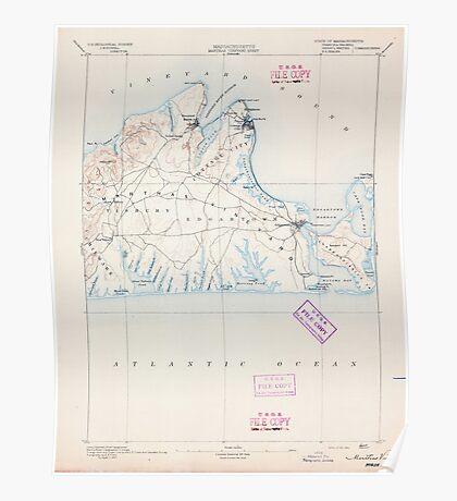 Massachusetts  USGS Historical Topo Map MA Marthas Vineyard 352835 1894 62500 Poster