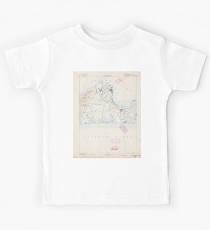 Massachusetts  USGS Historical Topo Map MA Marthas Vineyard 352835 1894 62500 Kids Tee