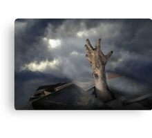 Zombrarian rising 2 Canvas Print