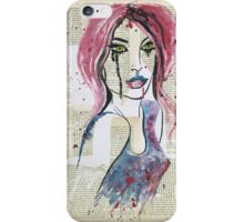 Lady in Violet iPhone Case/Skin