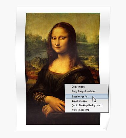 Save Mona Lisa As... Poster