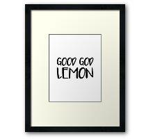 Good God Lemon Framed Print