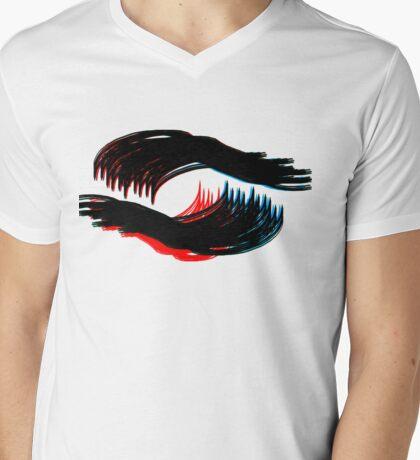 Swirly Mens V-Neck T-Shirt