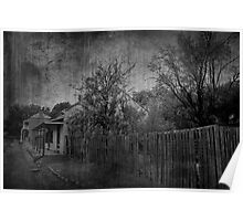 Charming Cottage Mono Poster