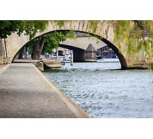 Arches on the river Seine Photographic Print