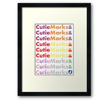 Cutie Marks and Cutie Marks Framed Print