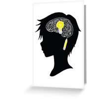 Creative Thinking Anime Boy - by Dakota5132 Greeting Card