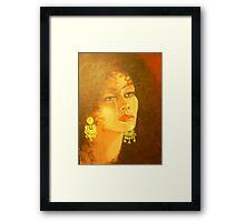 A TEAR FROM HER EYE Framed Print