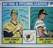 492 - Padres Batting & Pitching Leaders by Foob's Baseball Cards
