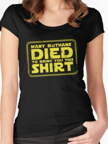 Many Bothans died bring you this shirt Women's Fitted Scoop T-Shirt
