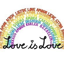 "LGBTQ+ Rainbow ""Love is Love"" multi-language  by alexbeppo"