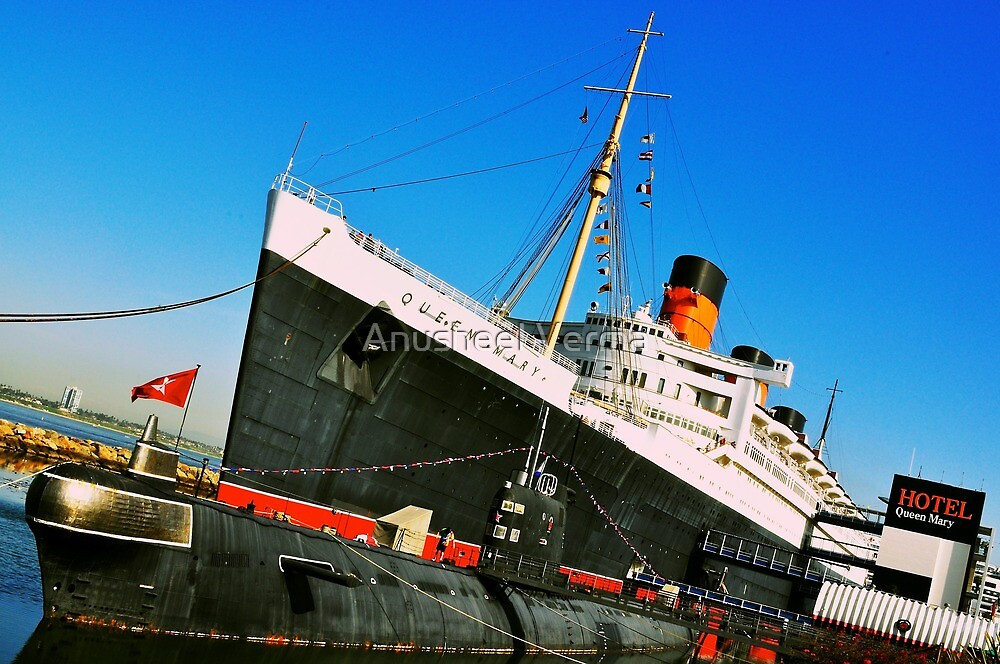 Queen Mary Ship (Long Beach) by Anusheel Verma