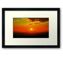 Sunset View from Griffith Observatory (Los Angeles) Framed Print