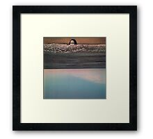 Collage: Mona Lisa Sea. Framed Print