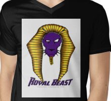 Royal Beast Lion Mens V-Neck T-Shirt